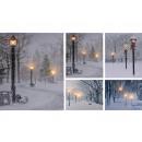 wholesale Pictures & Frames: LED picture, canvas winter motifs, 3 LED`s