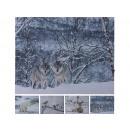 wholesale Home & Living: LED picture, canvas animals winter motifs, 50 ...