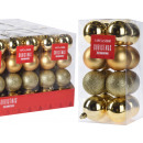 Christmas ball set of 16 5 cm gold