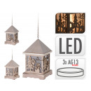 Lantern with Led lighting, wood carving