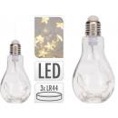 Bombilla LED decorativa con estrellas para colgar,