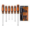 Großhandel Handwerkzeuge: Schraubenzieherset Kreuz + Schlitz, 6-teilig