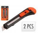 Großhandel Handwerkzeuge: Cutter-Messer Set 18mm, 2-tlg.