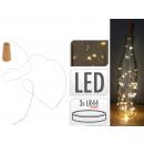 LED wire fairy lights, bottle cap m. 8 LE