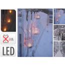 Imagen LED, linternas de lona motivos de invierno,