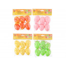 Easter eggs plastic, set of 6, 6 cm