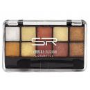 hurtownia Make-up: Cienie do powiek brązowe, 10 kolorów + aplikator