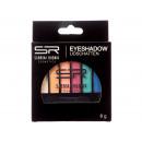 hurtownia Make-up: Pastele do powiek, 6 kolorów + aplikator, 24er B