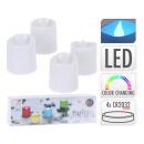 LED tealights m. Color change, set of 4