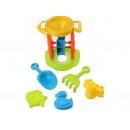 Sandspielzeug 5tlg. Schaufel, Sieb, Förmchen, Wass