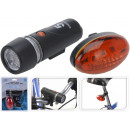 wholesale Sports & Leisure: LED bicycle light front light + rear light in set