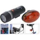 Großhandel Fahrräder & Zubehör: LED Fahrradlicht Vorderleuchte + Rücklicht im Set