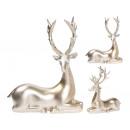 wholesale Figures & Sculptures: Decorative figures reindeer, deer gold