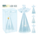 LED decoration figures angel glass, warm-white