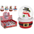 Snow globe winter figures, 4- times assorted