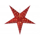 LED paper star to hang with TIMER, bordeaux-ro