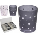 wholesale Candles & Candleholder: Candle in glass, 2- times assorted , Stars white /