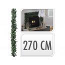 Christmas garland, fir branches 270 cm long, green
