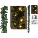 Christmas garland 270 cm, with 35 LED & TIMER