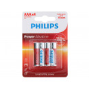 grossiste Batteries et piles: Jeu de 4 piles LR3 AAA Mignon Power Alkaline Phi