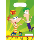 groothandel Overigen: Phineas and Ferb - 6 party pouches