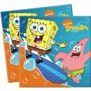Großhandel Partyartikel: SpongeBob Surfing - 20 Papierservietten ...