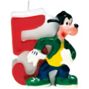 Playful Mickey - 1 Birthday Candles No 5