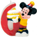 Playful Mickey - 1 Birthday Candles No 6