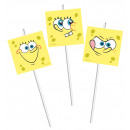wholesale Party Items: Spongebob Surfing - 6 drinking straws with decorat
