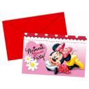 Minnie Café - 6 Einladungskarten mit Umschlag