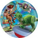 Toy Story Star Power - 8 piatti di carta di grandi