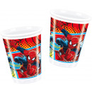grossiste Articles sous Licence: Ultime Spiderman - 8 gobelets en plastique de 200