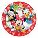 Mickey Christmas Time - 8 paper plates 23cm