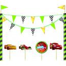 Cars Neon - 1 cake decoration set