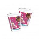 Doc McStuffins - 8 plastic cups 200ml
