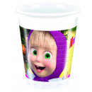 Masha and The Bear - 8 plastic cups 200 ml packet