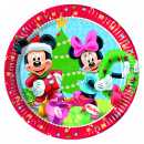 Mickey CHRISTMAS - 8 Paper Plates Large 23cm
