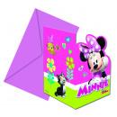 grossiste Cartes de vœux: Minnie HELPERS  HEUREUX - 6 cartes d'invitation