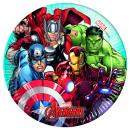 Mighty Avengers - 8 piatti di carta 20cm