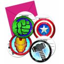 mayorista Tarjetas de felicitacion: Mighty Avengers - 6 estampadas tarjetas de invitac