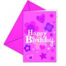 HAPPY BIRTHDAY GIRL - 6 Einladungskarten mit Umsch