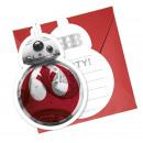 nagyker Üdvözlőkártyák: Star Wars Episode 8-6 meghívók boríték