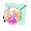 Princess Dare To Dream - 6 Einladungskarten mit Um