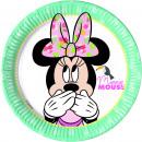Minnie Tropical Disney - 8 Paper Plates Medium 20c