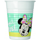 Minnie Tropical Disney - 8 plastic cups 200ml