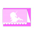 Believe In Unicorns - 6 Invitation Cards with Shif