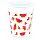 Watermelon - 8 plastic cups 200ml