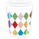 Pattern di diamanti - 8 bicchieri di plastica da 2