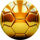 Football Gold - 8 Paper Plates Large 23cm