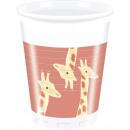 Safari - 8 bicchieri di plastica da 200 ml